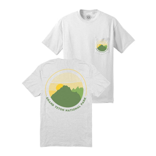 Grand Teton Retro Sunset Pocket Tee | Parks Project | National Park Shirts
