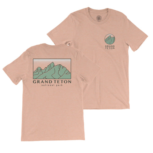 Grand Teton Retro Mountain Tee | Parks Project | Vintage National Park Shirts