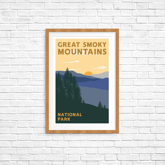 Great Smoky Mountains National Park Poster | Parks Project | National Park Posters