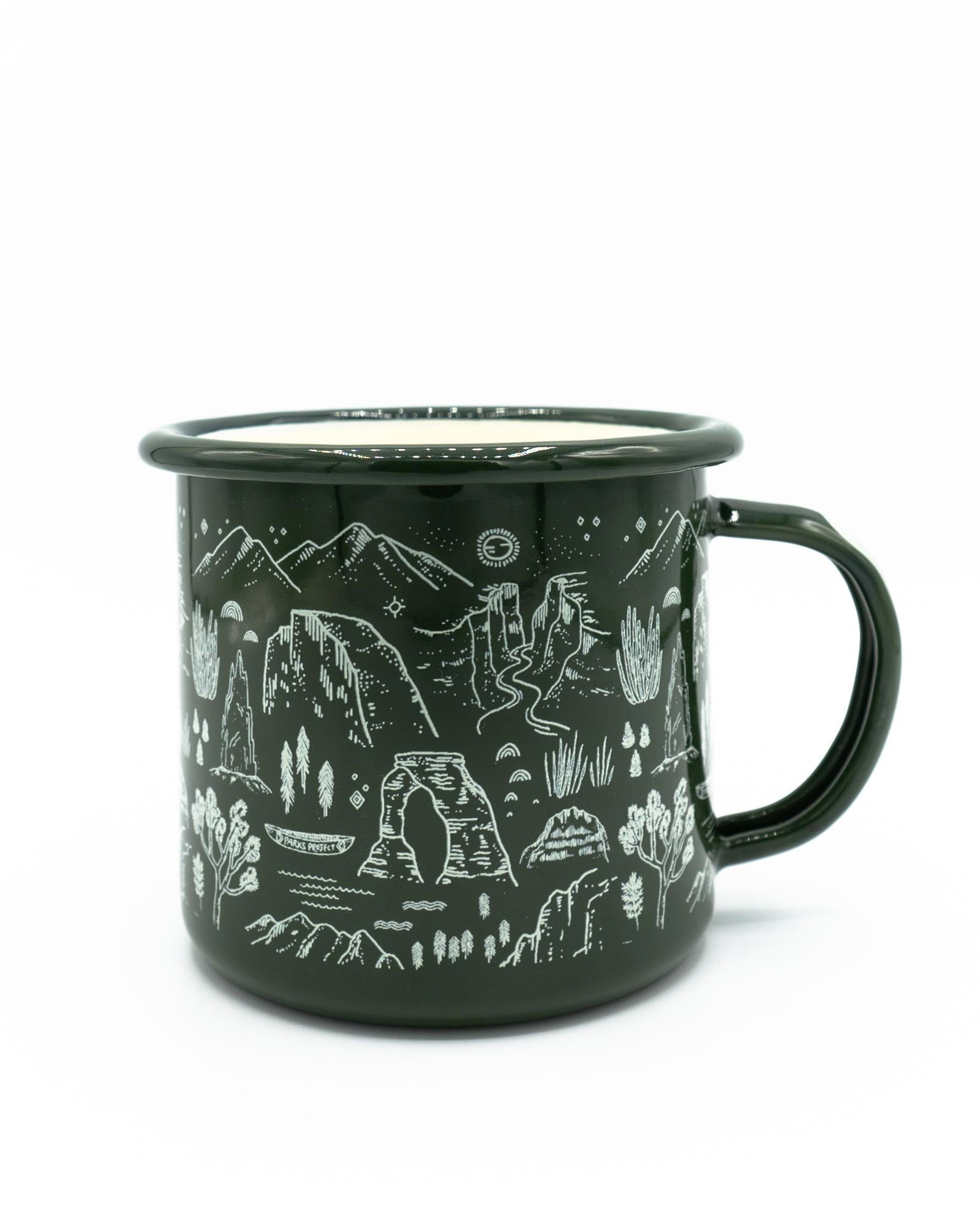 National Parks Iconic Enamel Mug | Parks Project | National Park Gifts