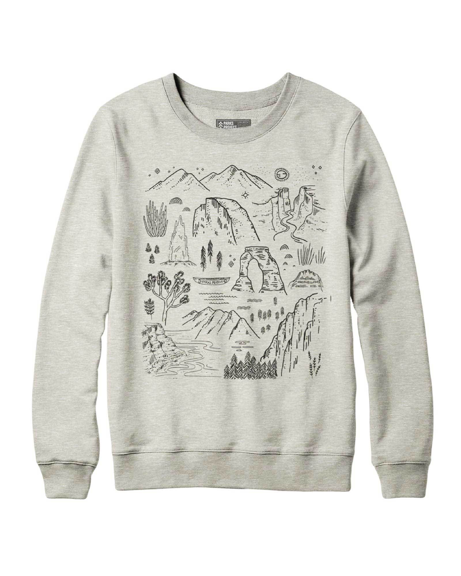Iconic National Parks Crew Sweatshirt | Parks Project | National Park Sweatshirt