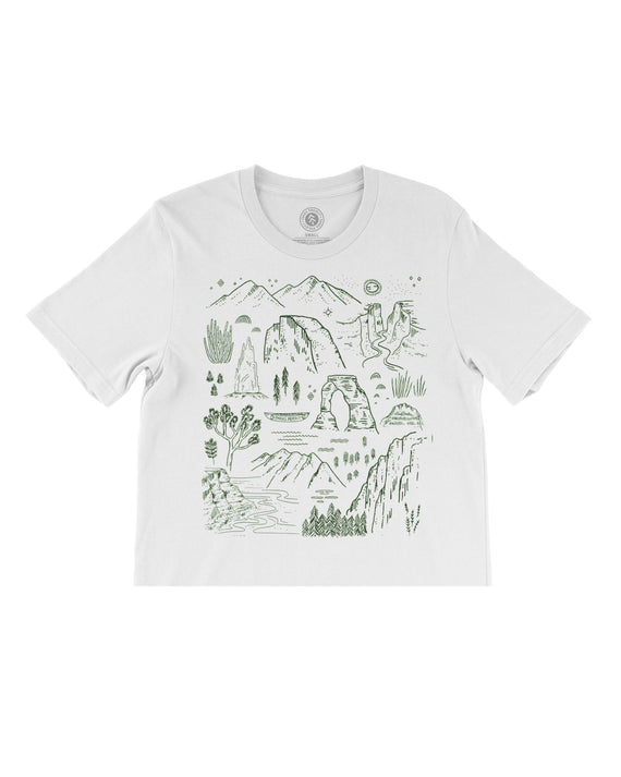 Iconic National Parks Women's Boxy Crop | Parks Project | National Park Tee