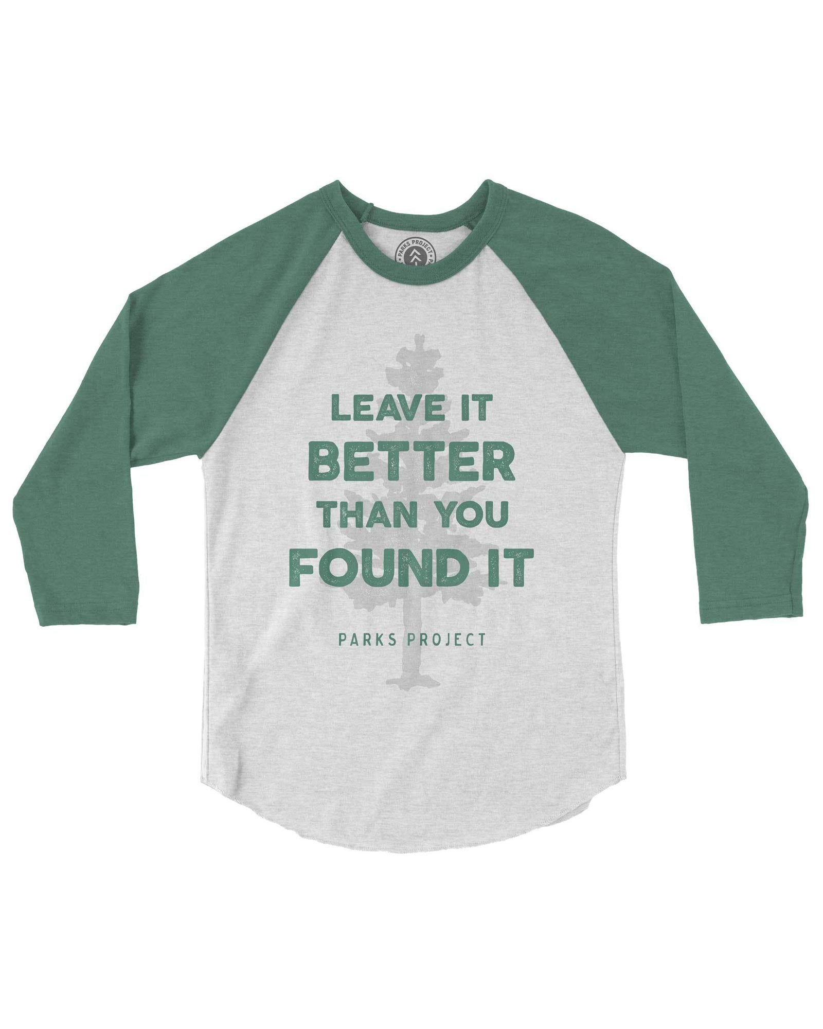 Leave It Better Tree Youth Raglan | Parks Project | National Parks Raglan
