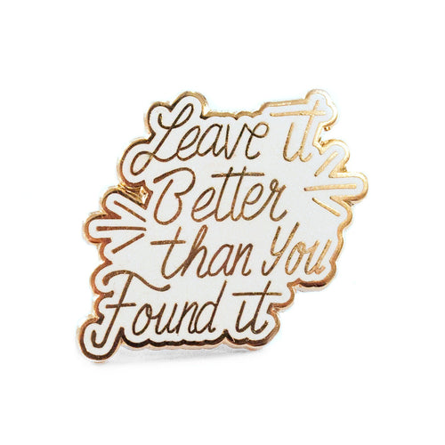 Leave it Better Cursive Pin | Parks Project | National Park Pin