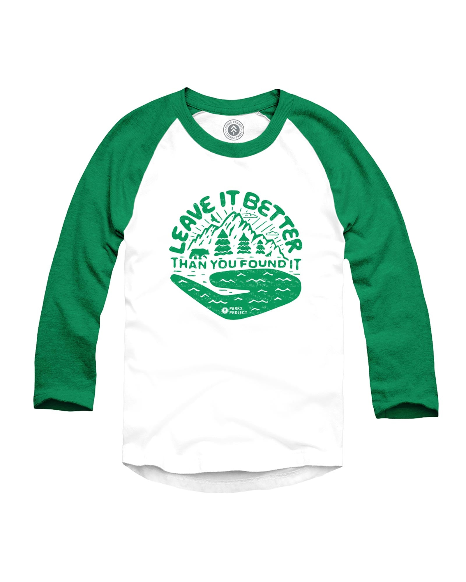 Leave it Better Hand Youth Raglan | Parks Project | National Park Raglan