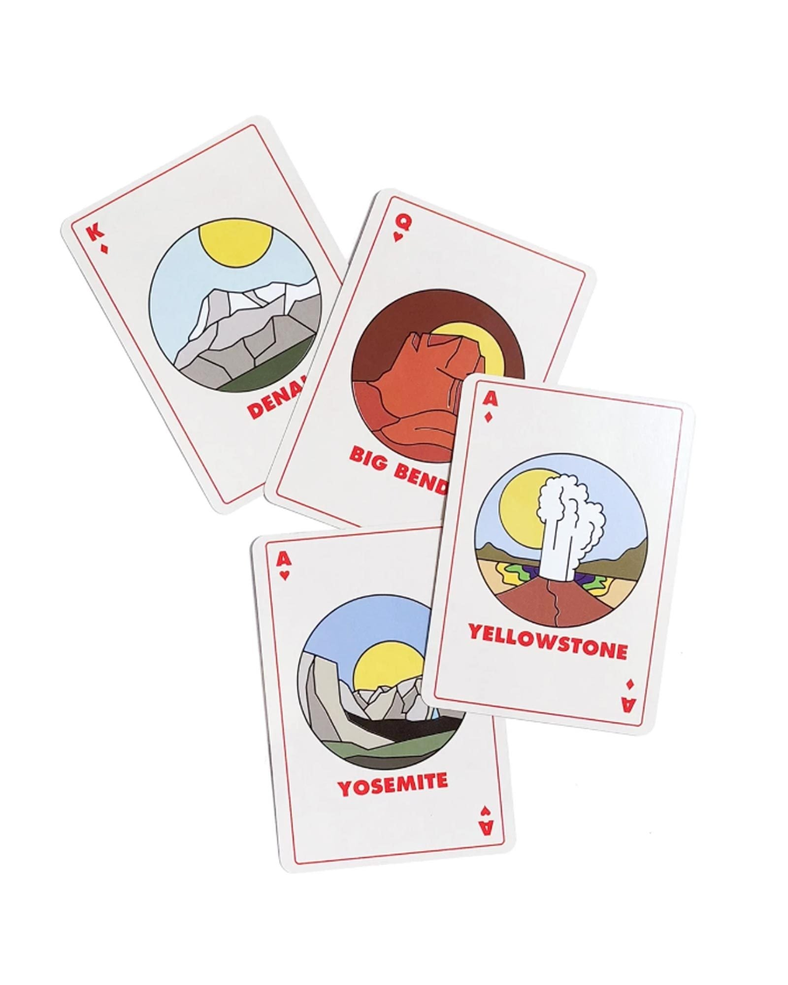 Minimalist National Park Playing Cards | Parks Project | National Park Gifts