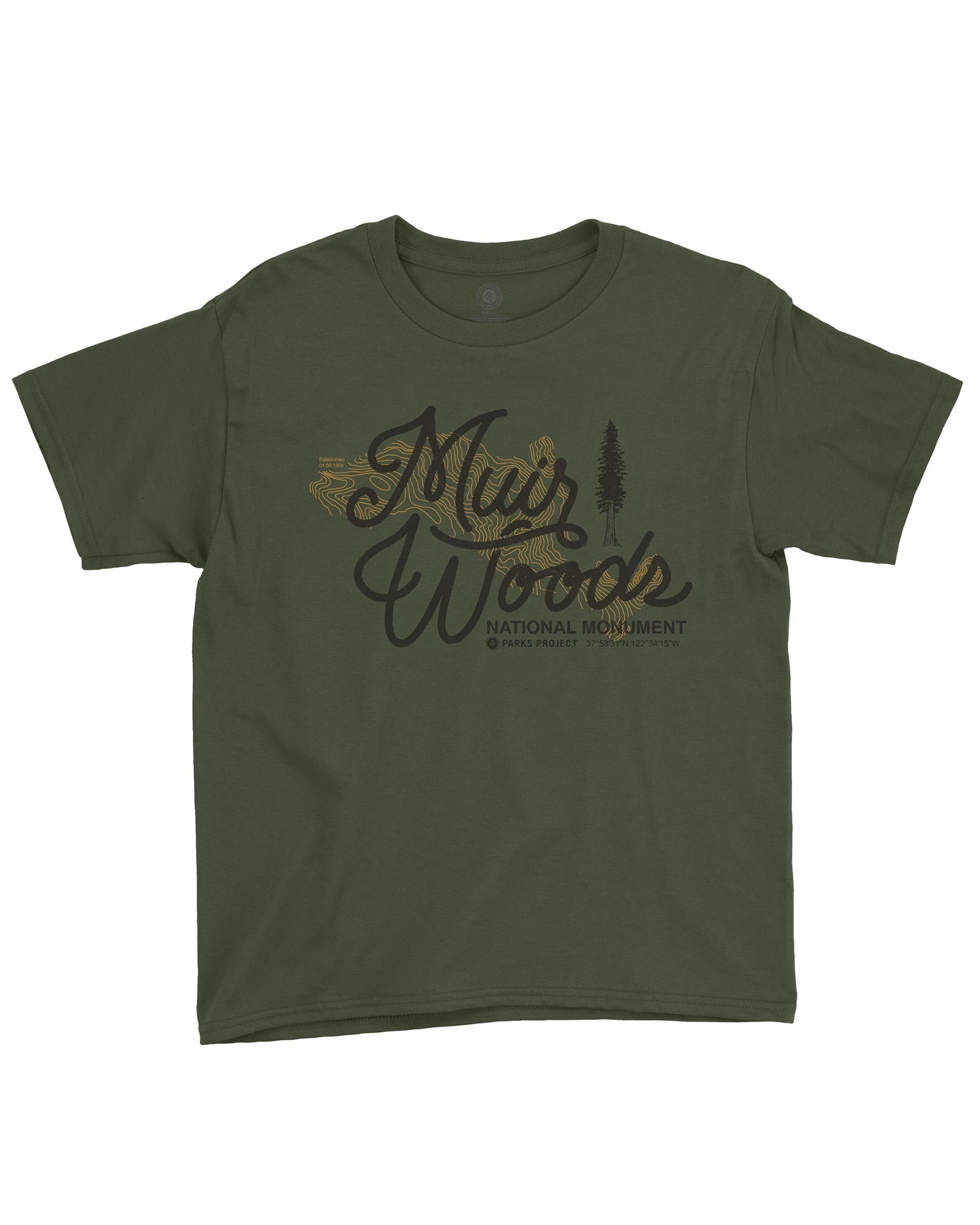 Muir Woods Find Your Trail Youth Tee | Parks Project | National Park Tee