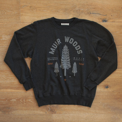 Muir Woods Redwood Crew Fleece Sweatshirt