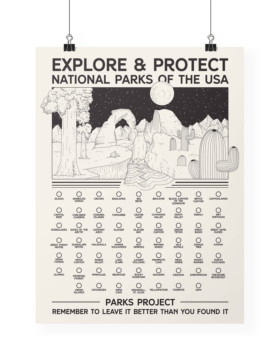 All Parks Fill-In Bubble Poster | Parks Project | National Park Posters