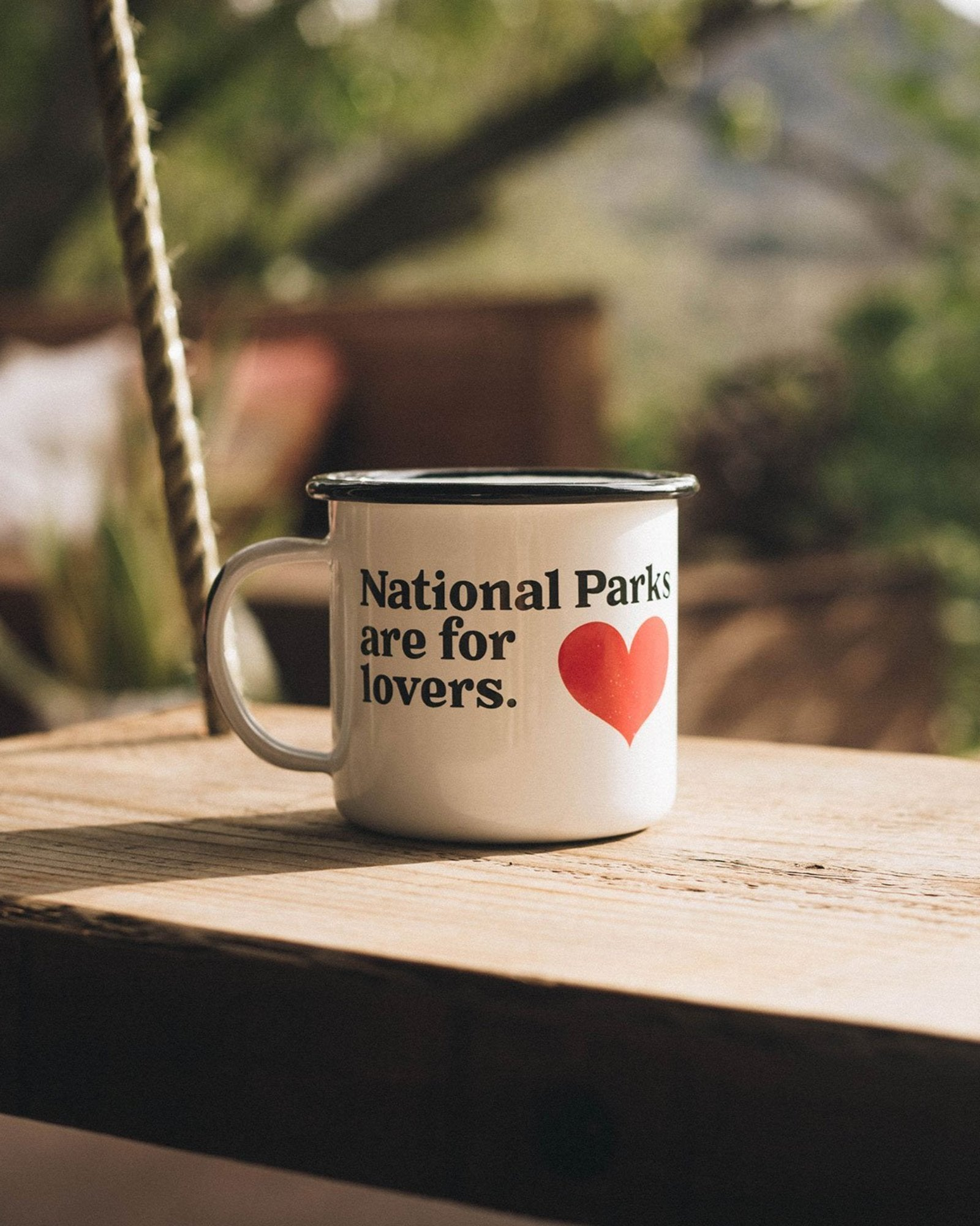 National Parks are for Lovers Enamel Mug