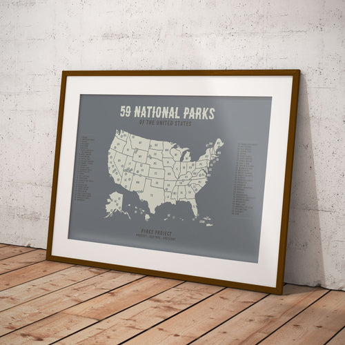 Old West 59 National Parks Map Poster | Parks Project | National Parks Apparel