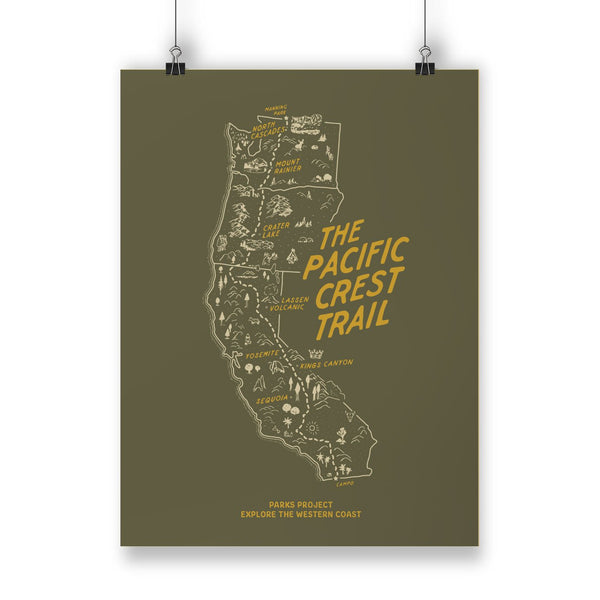 Pacific Crest Trail Woodland Poster | Parks Project | National Park Posters
