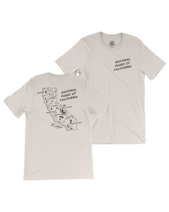 California All Parks Map Tee | Parks Project | National Parks Apparel