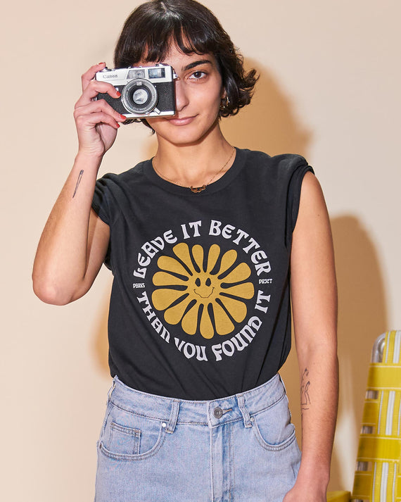 Leave It Better Smilin Sun Crop Womens Tee | Parks Project | National Park Crop Tee