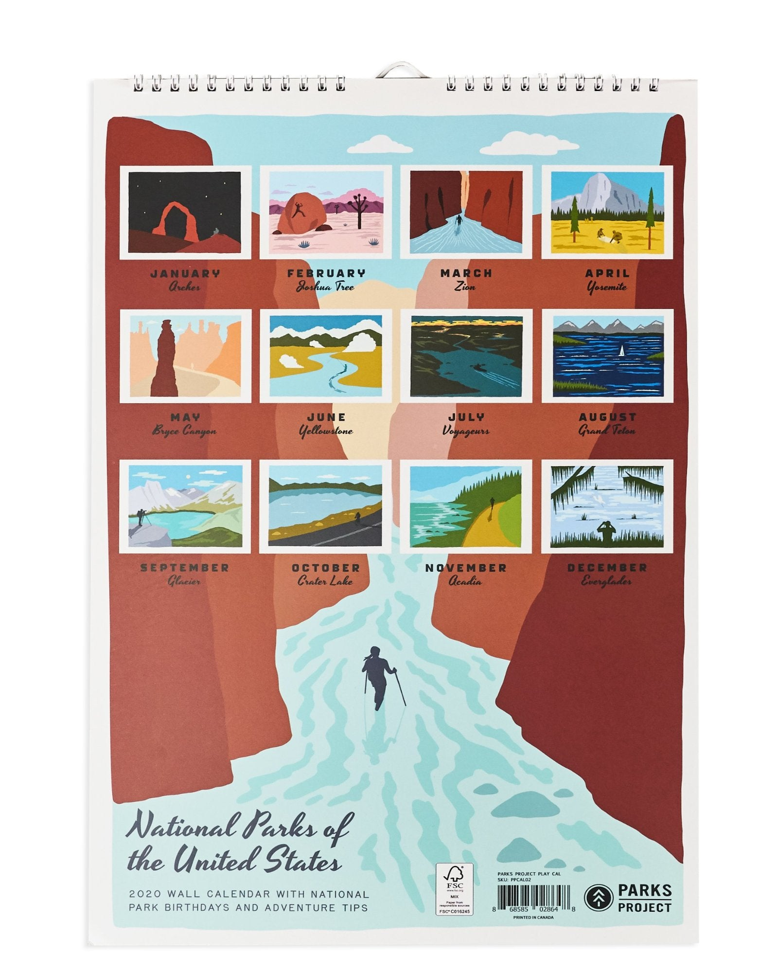 Calendrier National 2020.Playing In Our National Parks 2020 Wall Calendar Parks