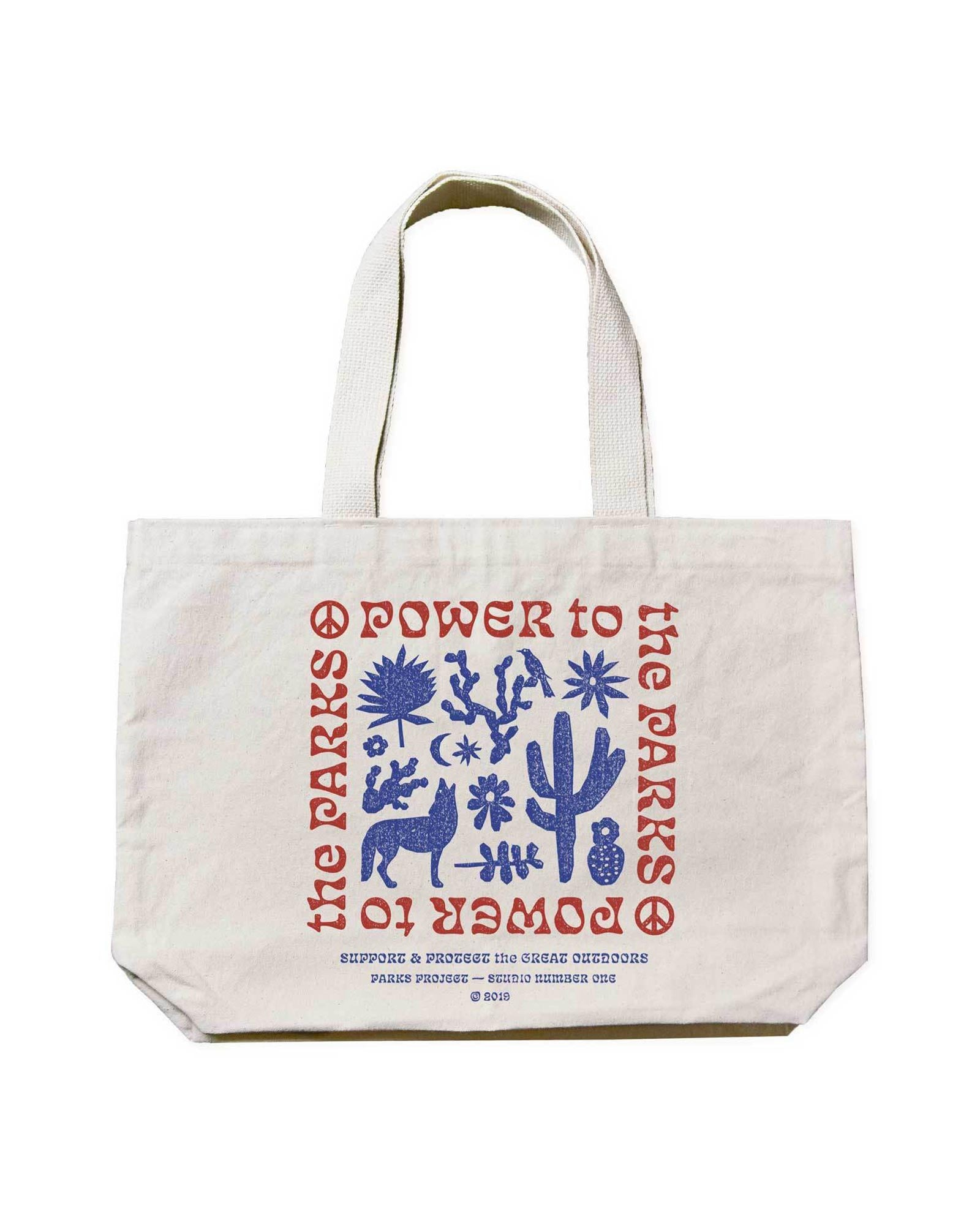 Power to the Parks Canvas Tote | Parks Project x Studio Number One | National Parks Tote