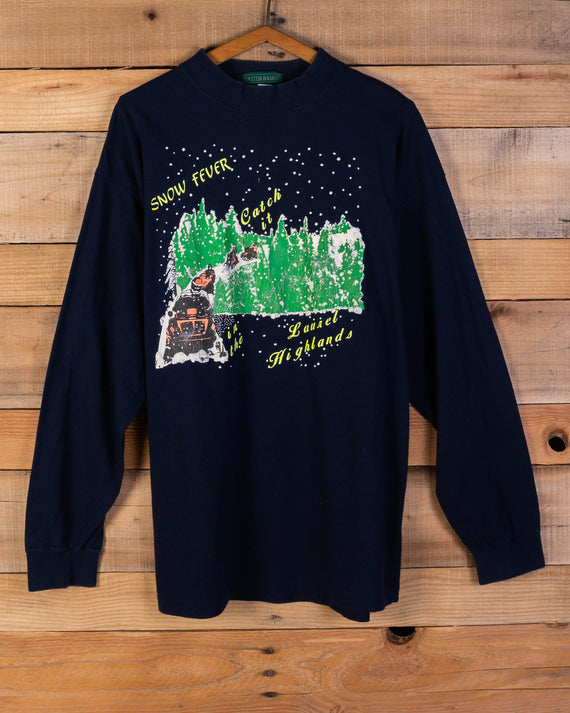 Vintage Snow Fever Long Sleeve Tee