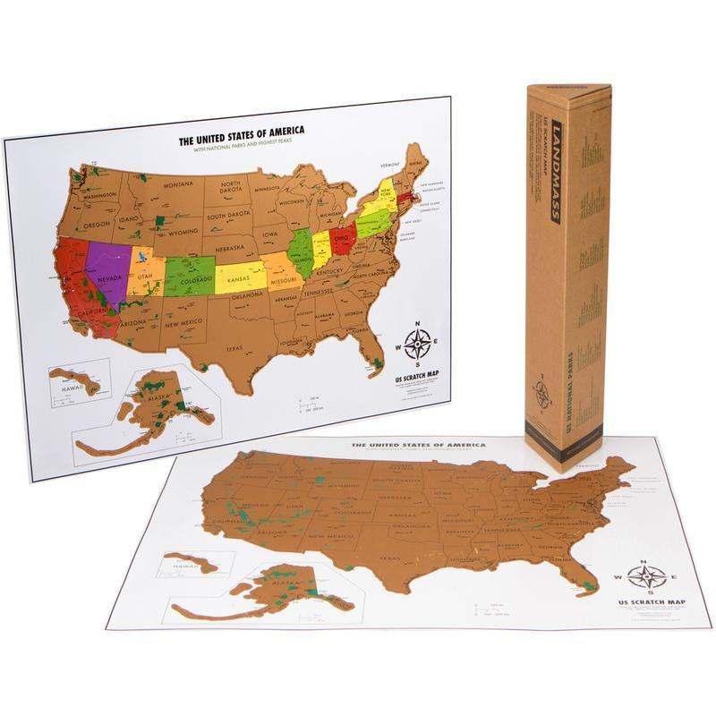 Scratch Off USA Poster Map with National Parks | Parks Project ...