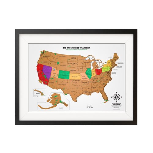 Scratch Off USA Poster Map with National Parks | Parks Project | National Park USA Map