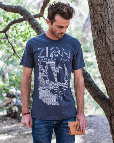 Zion National Park Cliff Tee | Parks Project | National Parks T-Shirt