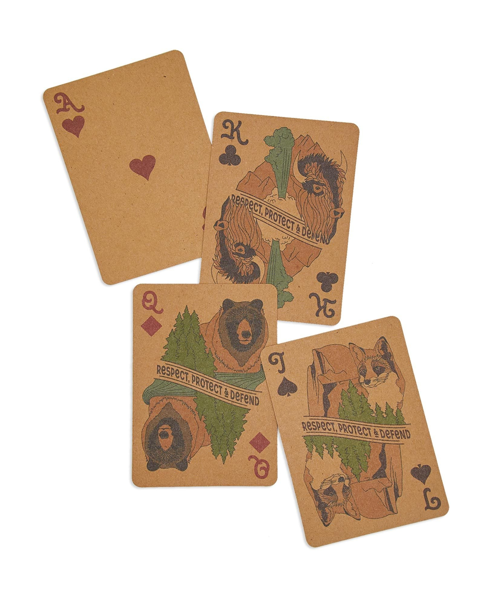 National Parks Wildlife Playing Cards