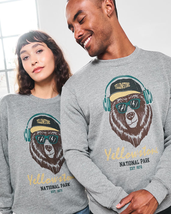 Yellowstone Hipsters Crew Sweatshirt | Parks Project | National Parks Sweatshirt