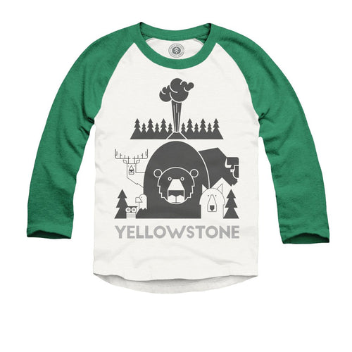 Yellowstone National Park Kids Raglan Tee | Parks Project | National Parks T Shirt