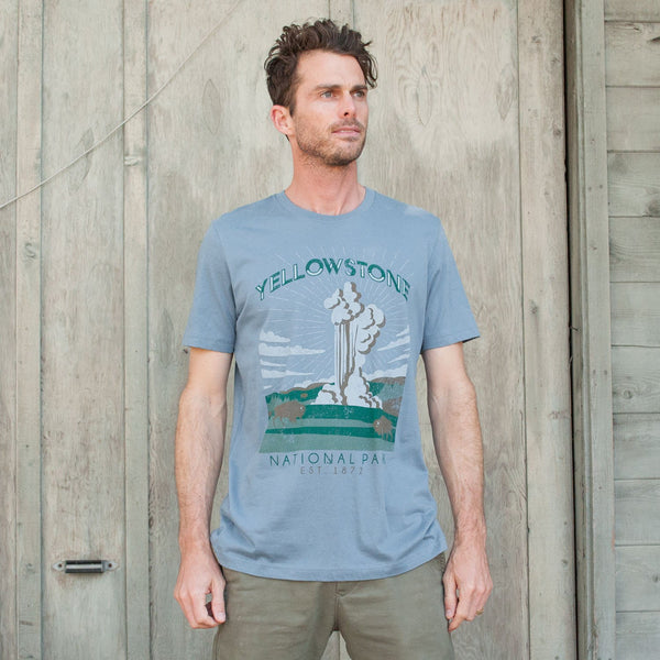 Yellowstone National Park Vintage Poster Tee | Parks Project | National Park T-Shirts