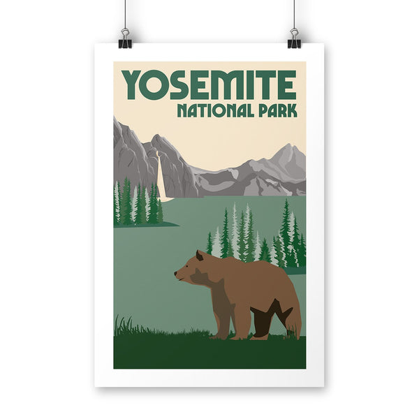 Yosemite National Park Poster | Parks Project | National Parks Posters