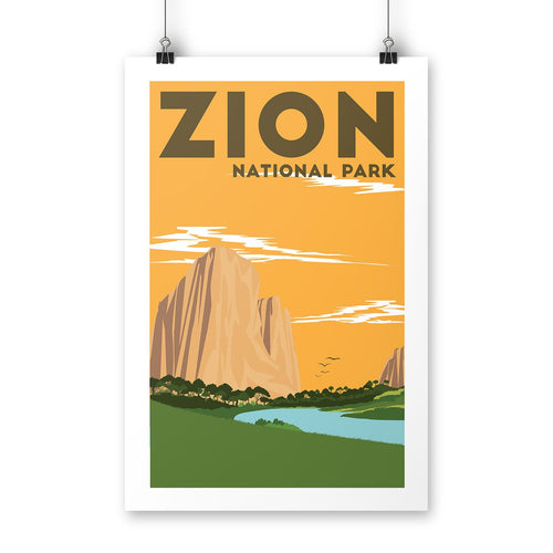 Zion National Park Poster | Parks Project | National Park Posters