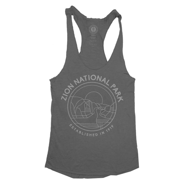 Zion National Park Outlines Racerback Tank Top | Parks Project | National Park Tank Tops