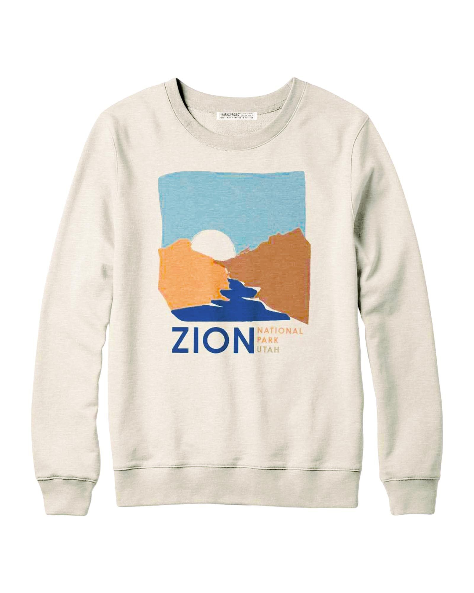 Zion Watercolor Fleece Sweatshirt | Parks Project | National Parks Gifts