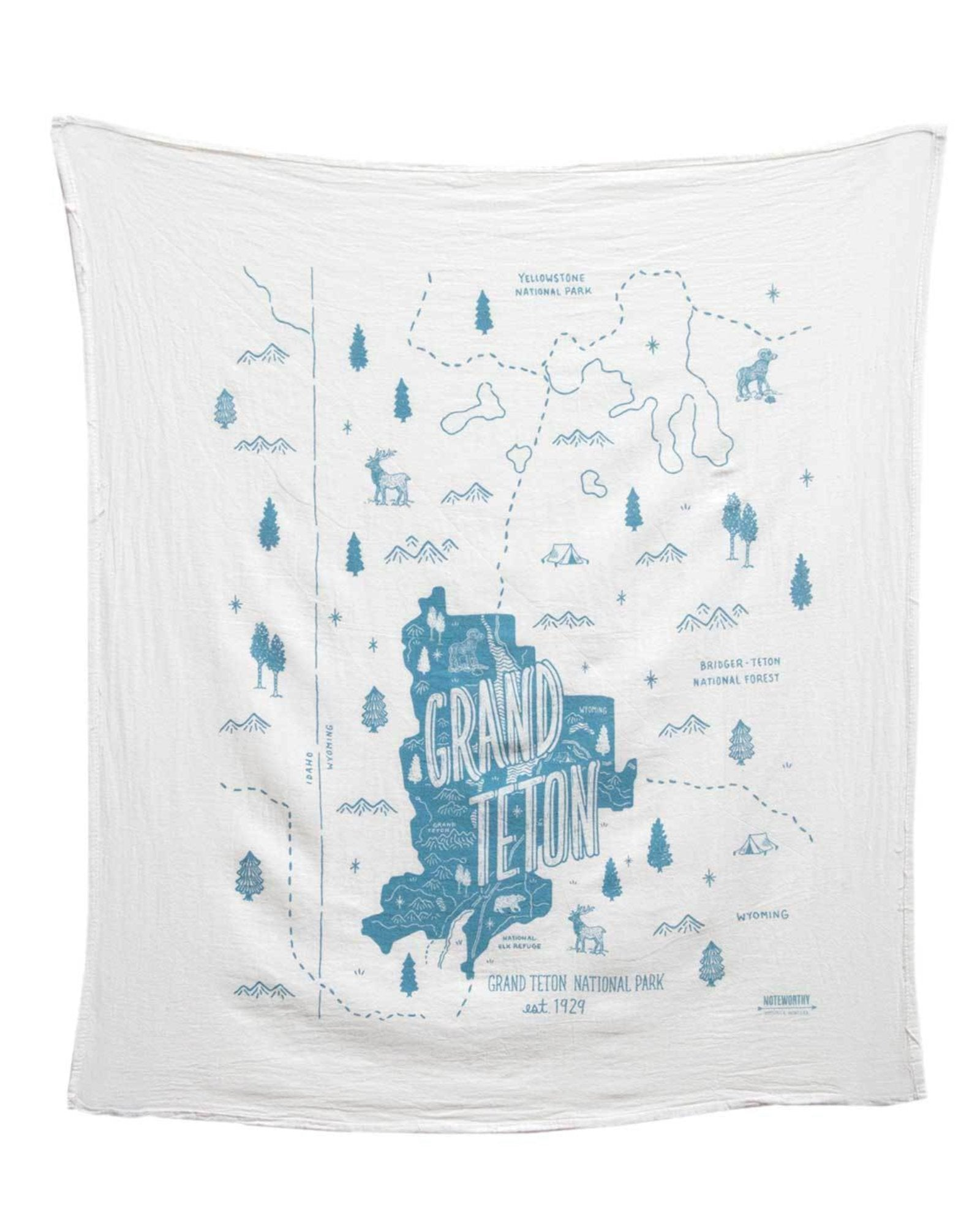 Grand Teton National Park Tea Towel