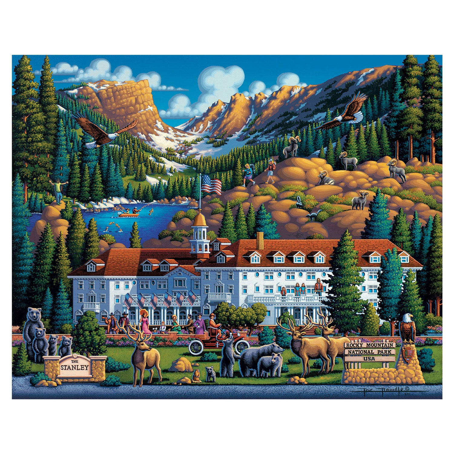 Rocky Mountain Jigsaw Puzzle