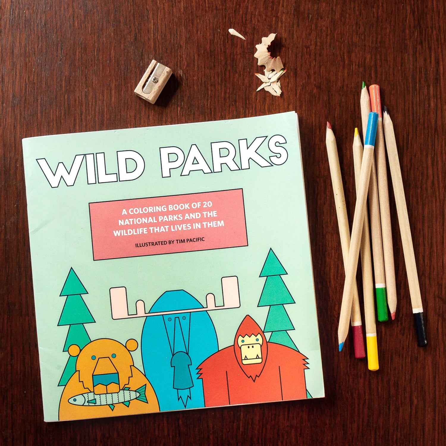 Wild Parks Coloring Book