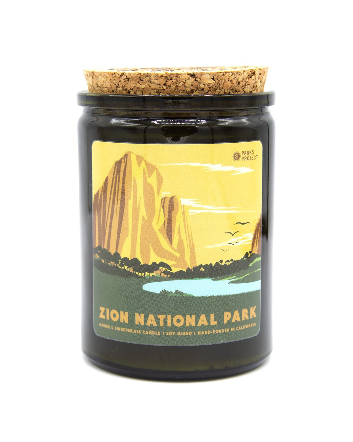 Zion National Park Sweetgrass & Amber Candle | Parks Project | National Park Gift Store