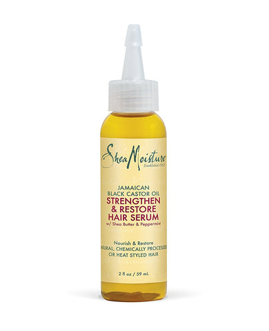 Shea Moisture Jamaican Black Castor Oil Strengthen & Restore Hair Serum 2oz