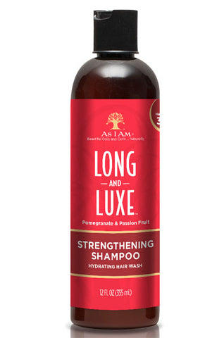 AS I AM Long & Luxe Pomegranate & Passion Fruit Strengthening Shampoo 12oz