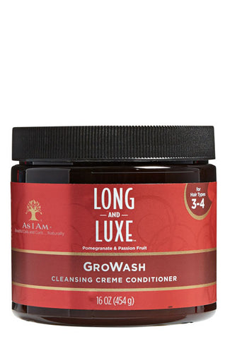AS I AM Long & Luxe Pomegranate & Passion Fruit GroWash 16oz