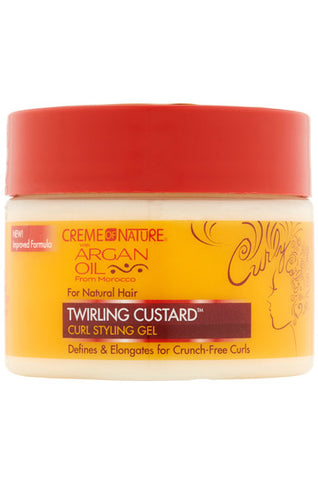 Creme of Nature Argan Oil Twirling Custard 11.5oz