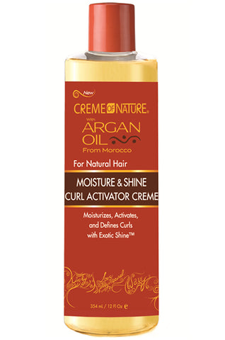 Creme of Nature Argan Oil Moisture and Shine Curl Activator Creme 12oz
