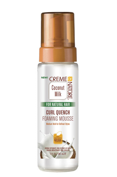 Creme of Nature Coconut Milk Curl Quench Foaming Mousse 7oz