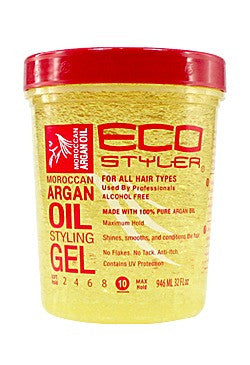 Ecostyler Professional Styling Gel with Moroccan Argan Oil 32oz
