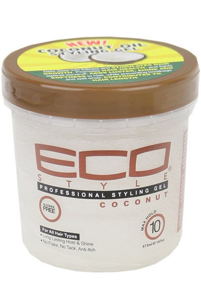 Ecostyler Professional Styling Gel with Coconut Oil 16oz