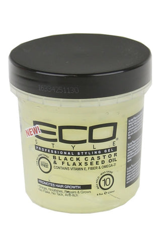 Ecostyler Professional Styling Gel with Black Castor & Flaxseed Oil 8oz