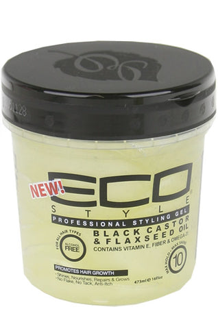 Ecostyler Professional Styling Gel with Black Castor & Flaxseed Oil 16oz