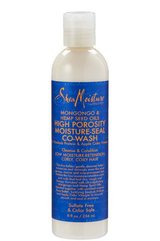 Shea Moisture Mongongo & Hemp Seed Oils High Porosity Moisture-Seal Co-Wash 8oz