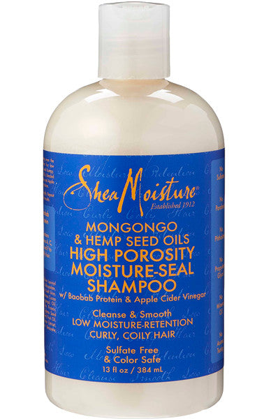 Shea Moisture Mongongo & Hemp Seed Oils High Porosity Moisture-Seal Shampoo 13oz