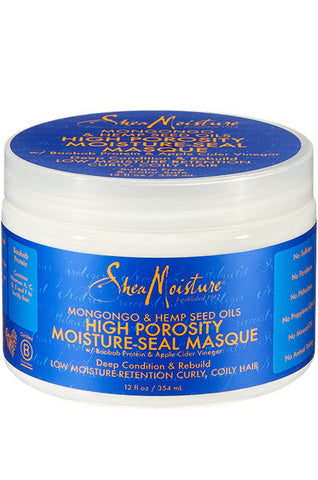 Shea Moisture Mongongo & Hemp Seed Oils High Porosity Moisture-Seal Masque 12oz