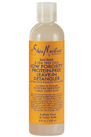Shea Moisture Baobab & Tea Tree Oils Low Porosity Protein-Free Leave-In Detangler 8oz